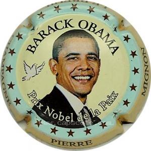 Obama bleu capsule champagne pierre mignon