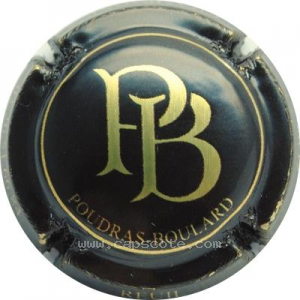 capsule champagne Poudras Boulard Initiales